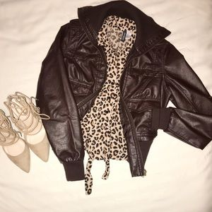 "H & M Divided ""Leopard"" Top"
